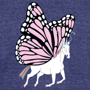 Butterfly Unicorn - Unisex Tri-Blend T-Shirt by American Apparel