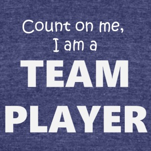 Teamplayer 4 (2173) - Unisex Tri-Blend T-Shirt by American Apparel