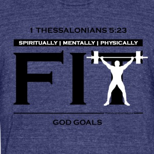 God Goals - Christian Fitness Apparel - Unisex Tri-Blend T-Shirt by American Apparel