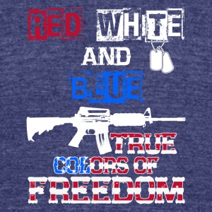 Red White And Blue True Colors Of Freedom Products - Unisex Tri-Blend T-Shirt by American Apparel