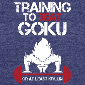 dragon ball super saiyan training to beat goku - Unisex Tri-Blend T-Shirt by American Apparel