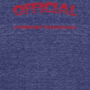 Official 4th Of July Firework Technician - Unisex Tri-Blend T-Shirt by American Apparel