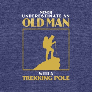 Old Man Trekking - Unisex Tri-Blend T-Shirt by American Apparel