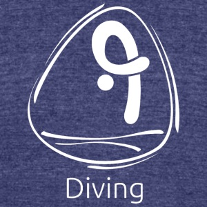 Diving_white - Unisex Tri-Blend T-Shirt by American Apparel