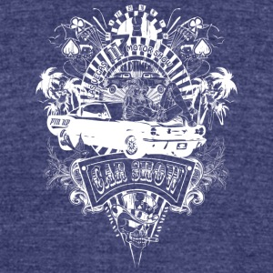 motor_show_cars_and_girls_white - Unisex Tri-Blend T-Shirt by American Apparel