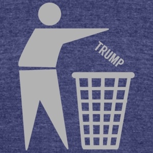 Dump Trumph - Unisex Tri-Blend T-Shirt by American Apparel