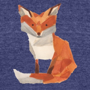 Watercolor Fox - Unisex Tri-Blend T-Shirt by American Apparel