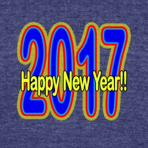 Happy_New_Year - Unisex Tri-Blend T-Shirt by American Apparel