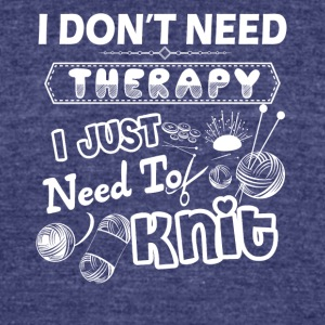 Knit Therapy Shirt - Unisex Tri-Blend T-Shirt by American Apparel