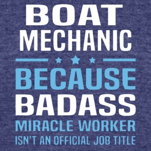 Boat Mechanic T Shirt - Unisex Tri-Blend T-Shirt by American Apparel