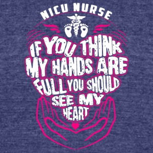 Nicu Nurse T Shirt - Unisex Tri-Blend T-Shirt by American Apparel