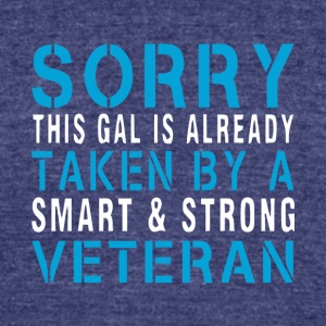 A Smart And Strong Veteran T Shirt - Unisex Tri-Blend T-Shirt by American Apparel