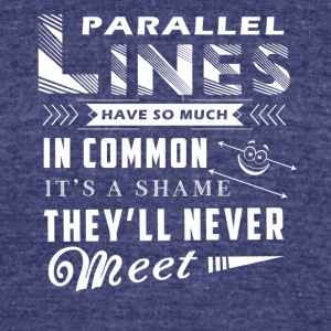Parallel Lines Math Shirt - Unisex Tri-Blend T-Shirt by American Apparel
