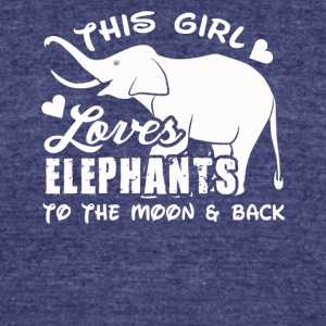 elephants tee shirt - Unisex Tri-Blend T-Shirt by American Apparel