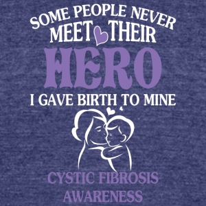 Cystic Fibrosis Awareness Mother's Day T Shirt - Unisex Tri-Blend T-Shirt by American Apparel