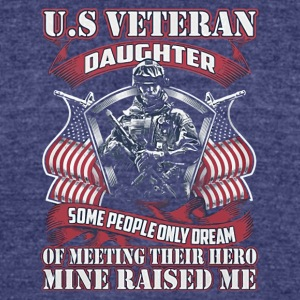 US Veteran daughter shirt - Unisex Tri-Blend T-Shirt by American Apparel