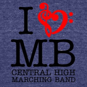 I MB Central High Marching Band - Unisex Tri-Blend T-Shirt by American Apparel