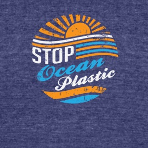 Stop Ocean Plastic - Unisex Tri-Blend T-Shirt by American Apparel