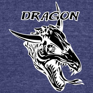 dragon_with_bull_horn_black - Unisex Tri-Blend T-Shirt by American Apparel
