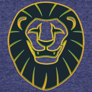 smiling_lion_face_color - Unisex Tri-Blend T-Shirt by American Apparel