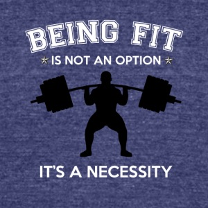 BEING FIT - Unisex Tri-Blend T-Shirt by American Apparel
