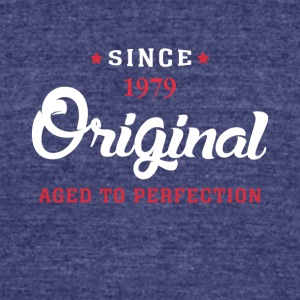 Since 1979 Original Aged To Perfection - Unisex Tri-Blend T-Shirt by American Apparel
