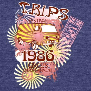 trips festival - Unisex Tri-Blend T-Shirt by American Apparel