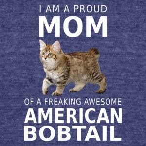 American Bobtail Cat Mom-Proud mother shirt,hoodie - Unisex Tri-Blend T-Shirt by American Apparel