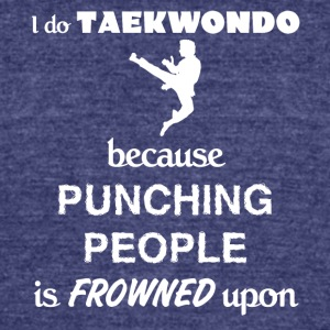 Taekwondo Love Gift- cool shirt,geek hoodie,tank - Unisex Tri-Blend T-Shirt by American Apparel