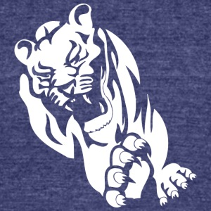 running_wild_lion - Unisex Tri-Blend T-Shirt by American Apparel