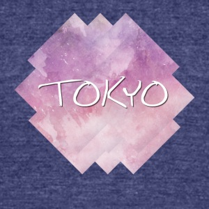 Tokyo - Unisex Tri-Blend T-Shirt by American Apparel