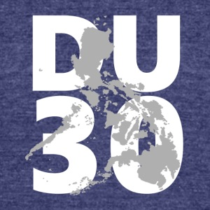 DU30 philippines. President Duterte Philippines - Unisex Tri-Blend T-Shirt by American Apparel
