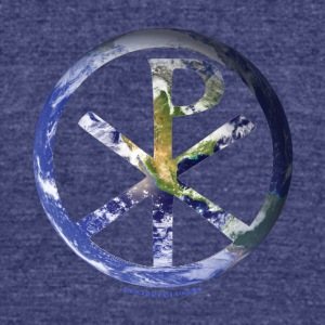 Pax Mundi Blue Earth - Unisex Tri-Blend T-Shirt by American Apparel