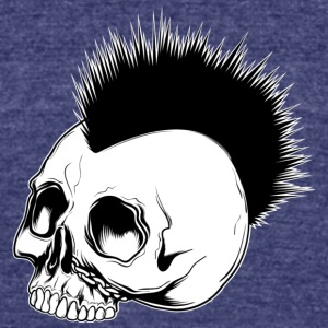 punk_skull - Unisex Tri-Blend T-Shirt by American Apparel