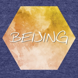 Beijing - Unisex Tri-Blend T-Shirt by American Apparel