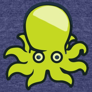 Octopus - Unisex Tri-Blend T-Shirt by American Apparel