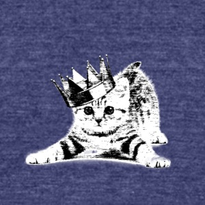 Cat wearing a crown - Unisex Tri-Blend T-Shirt by American Apparel