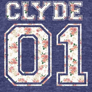 Clyde_01_vintage_flower_bunt1 - Unisex Tri-Blend T-Shirt by American Apparel