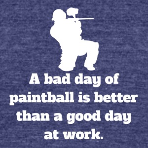 Bad Day Of Paintball - Unisex Tri-Blend T-Shirt by American Apparel