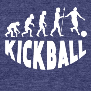 Kickball Evolution - Unisex Tri-Blend T-Shirt by American Apparel