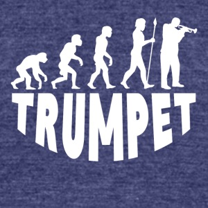 Trumpet Evolution - Unisex Tri-Blend T-Shirt by American Apparel