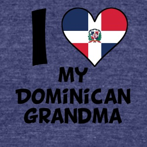 I Heart My Dominican Grandma - Unisex Tri-Blend T-Shirt by American Apparel