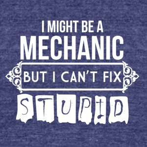 mechanic - Unisex Tri-Blend T-Shirt by American Apparel