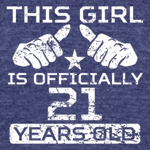 This Girl Is Officially 21 Years Old - Unisex Tri-Blend T-Shirt by American Apparel