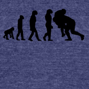 Rugby Tackle Evolution - Unisex Tri-Blend T-Shirt by American Apparel