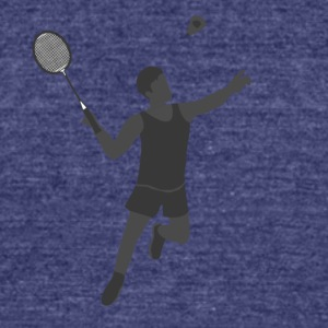 Badminton Player - Unisex Tri-Blend T-Shirt by American Apparel