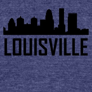 Louisville Kentucky City Skyline - Unisex Tri-Blend T-Shirt by American Apparel