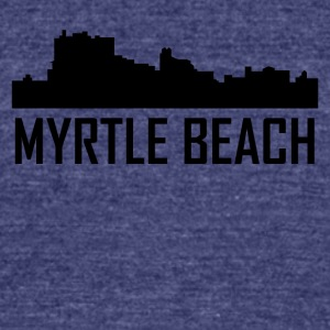 Myrtle Beach South Carolina City Skyline - Unisex Tri-Blend T-Shirt by American Apparel