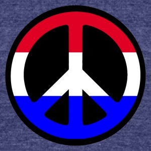 Peace Logo - Unisex Tri-Blend T-Shirt by American Apparel
