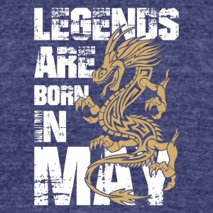Legends Are Born in May Dragon - Unisex Tri-Blend T-Shirt by American Apparel